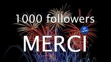1000 followers sur Twitter